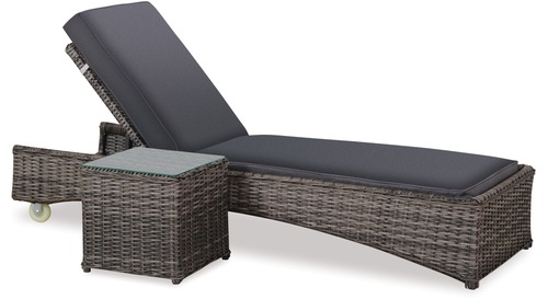Bahamas Outdoor Sunlounger & Side Table