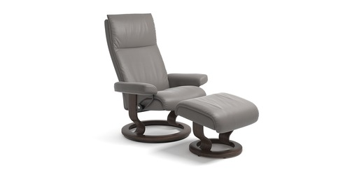 Stressless® Aura Leather Recliner - Classic Base