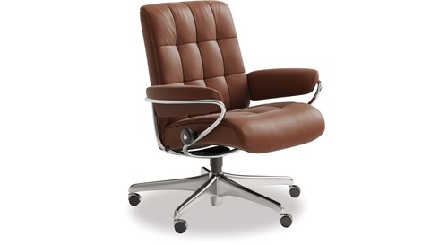 Stressless® London Leather Home Office Chair - Low Back