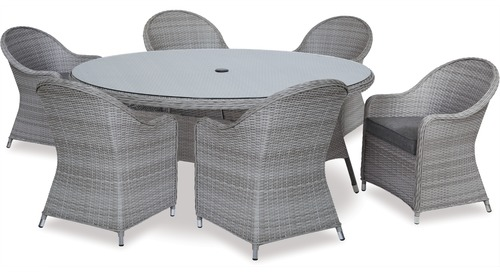 Baja 1800 Oval Outdoor Dining Table & Cabo Outdoor Chairs x 6