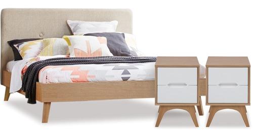 Copenhagen Slat Bed Bedsides Danske, White Lacquer Bedroom Furniture Nz
