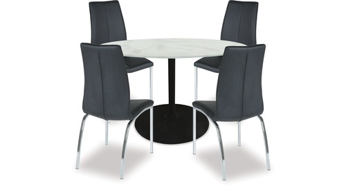 Tarifa Dining Table & Asama Chairs x 4