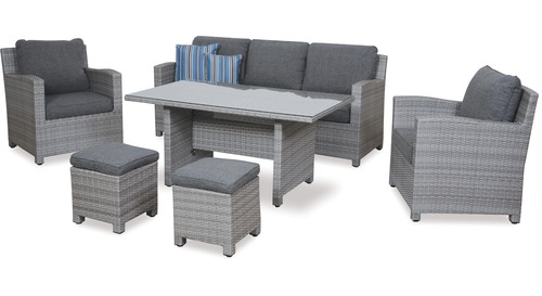 Baja 6-pce Low Dining Outdoor Lounge Suite